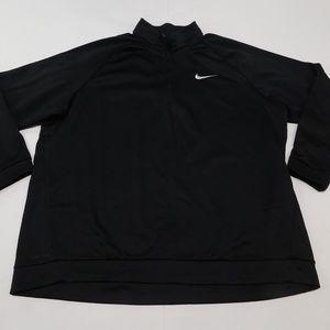 Nike Dri Fit 4XLT Black 1/4 Zip Sweatshirt  Polyes